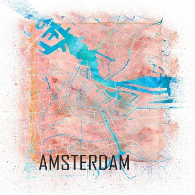 DiaNoche Designs Artist | Markus Bleichner - Amsterdam Netherlands Map