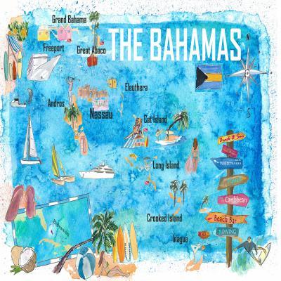 DiaNoche Designs Artist | Markus Bleichner - Bahamas Travel Poster