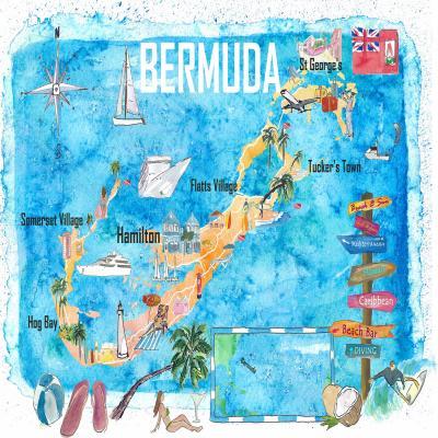 DiaNoche Designs Artist | Markus Bleichner - Bermuda Travel Poster