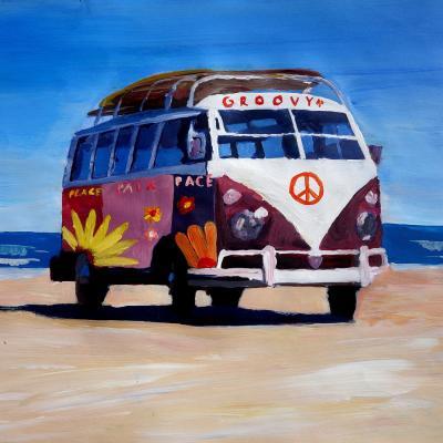 DiaNoche Designs Artist | Markus Bleichner - Groovy Peace VW Bus