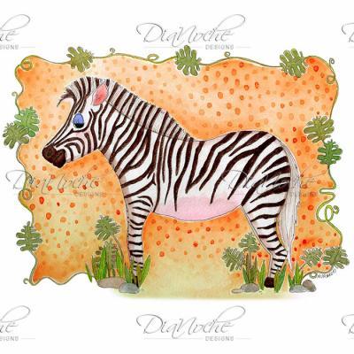 DiaNoche Designs Artist | Marley Ungaro - Zebra Orange