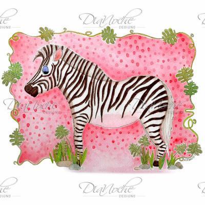 DiaNoche Designs Artist | Marley Ungaro - Zebra Raspberry