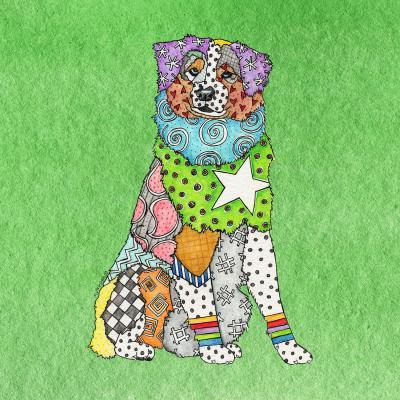 DiaNoche Designs Artist | Marley Ungaro - Australian Shepherd Green