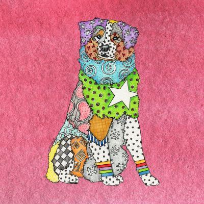 DiaNoche Designs Artist | Marley Ungaro - Australian Shepherd Pink
