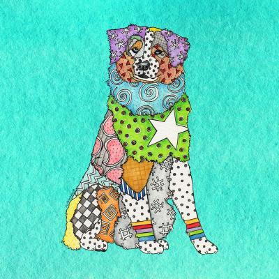 DiaNoche Designs Artist | Marley Ungaro - Australian Shepherd Turquoise