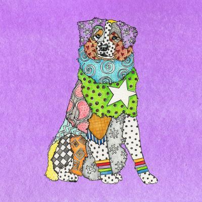 DiaNoche Designs Artist | Marley Ungaro - Australian Shepherd Violet