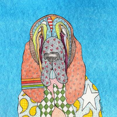 DiaNoche Designs Artist | Marley Ungaro - Bloodhound Aqua