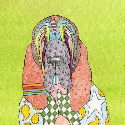 DiaNoche Designs Artist | Marley Ungaro - Bloodhound Lime