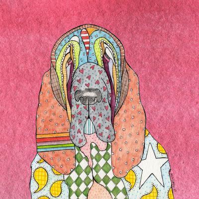 DiaNoche Designs Artist | Marley Ungaro - Bloodhound Pink