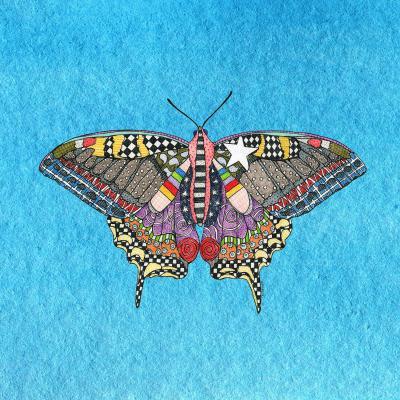 DiaNoche Designs Artist   Marley Ungaro - Butterfly Aqua