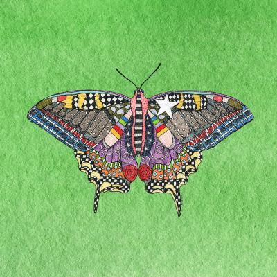 DiaNoche Designs Artist   Marley Ungaro - Butterfly Green