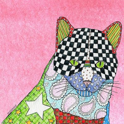 DiaNoche Designs Artist   Marley Ungaro - Cat Light Pink