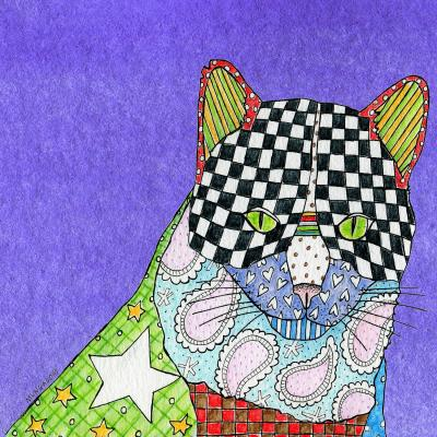 DiaNoche Designs Artist   Marley Ungaro - Cat Indigo