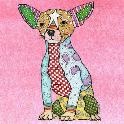 DiaNoche Designs Artist | Marley Ungaro - Chihuahua Dog Light Pink