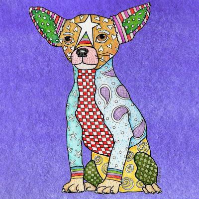 DiaNoche Designs Artist | Marley Ungaro - Chihuahua Dog Indigo