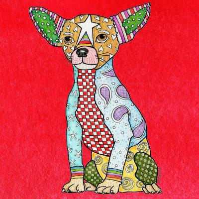 DiaNoche Designs Artist | Marley Ungaro - Chihuahua Dog Red