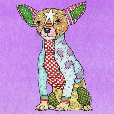 DiaNoche Designs Artist | Marley Ungaro - Chihuahua Dog Violet