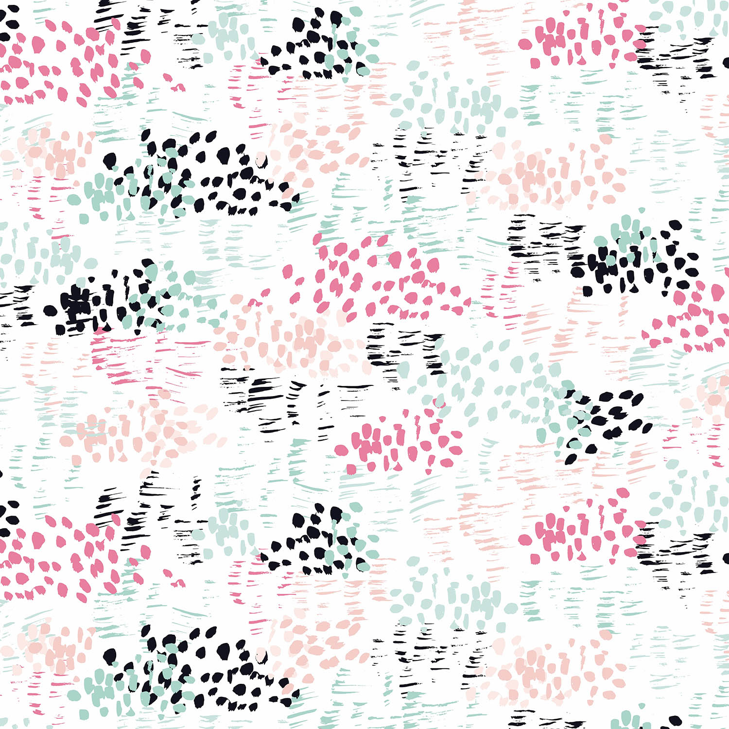 DiaNoche Designs Artist | Metka Hiti - Abstract Dots and Lines Mint