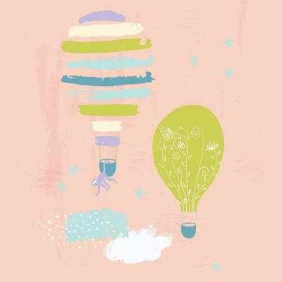 DiaNoche Designs Artist | Metka Hiti - Balloons Clouds Pink