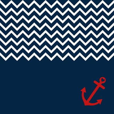 DiaNoche Designs Artist | Organic Saturation - Anchor Chevron Red Blue