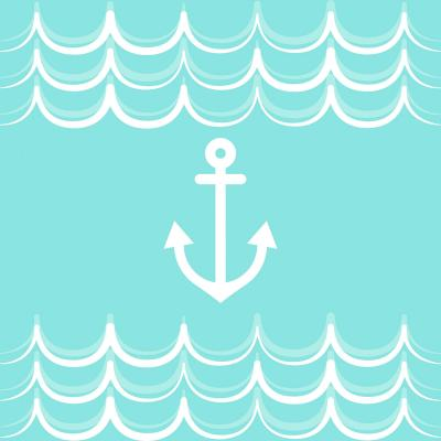 DiaNoche Designs Artist | Organic Saturation - Anchor Waves Aqua