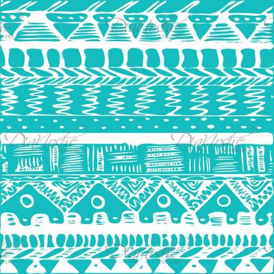 DiaNoche Designs Artist | Organic Saturation - Boho Blue Aztec