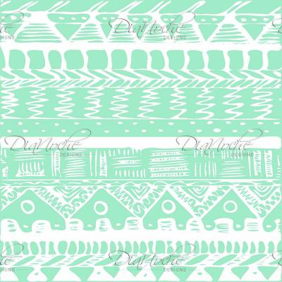 DiaNoche Designs Artist | Organic Saturation - Boho Mint Aztec