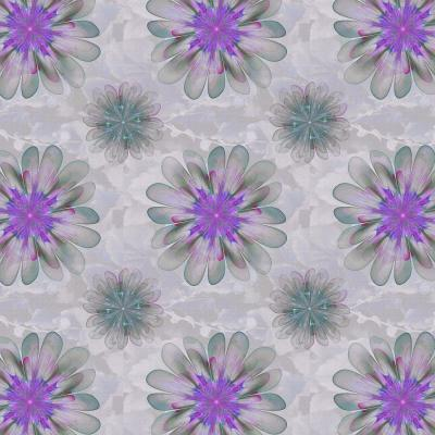 DiaNoche Designs Artist | Pam Amos - Abstract Flower Tile Violet