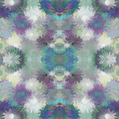 DiaNoche Designs Artist | Pam Amos - Daisy Blush 1 Blue Plum