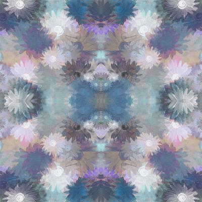 DiaNoche Designs Artist | Pam Amos - Daisy Blush 1 Lilac Blue