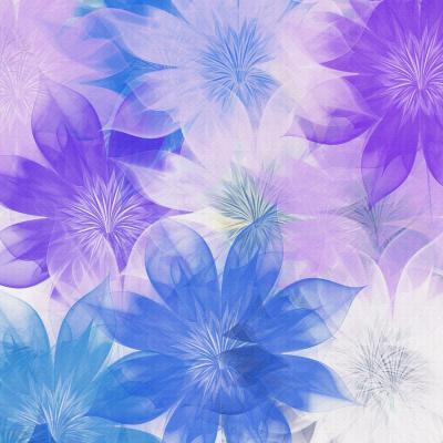 DiaNoche Designs Artist | Pam Amos - Flower Bunch Purples