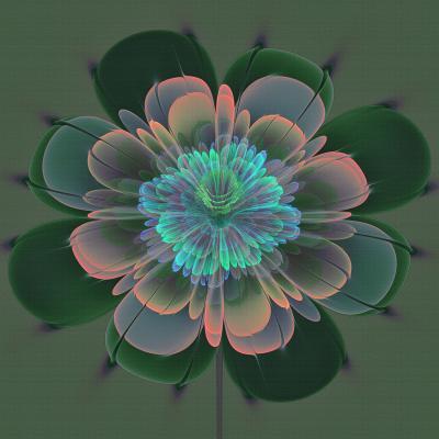 DiaNoche Designs Artist | Pam Amos - Ghost Flower Pine Blue