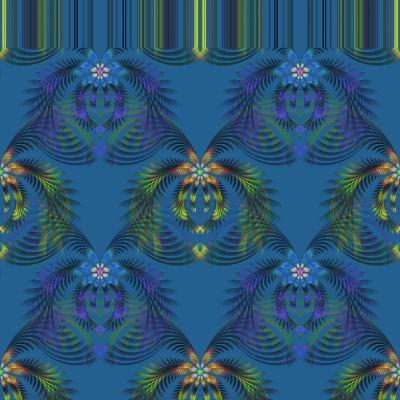 DiaNoche Designs Artist | Pam Amos - Hibiscus Fern Blue