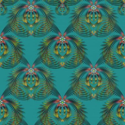 DiaNoche Designs Artist | Pam Amos - Hibiscus Fern Teal