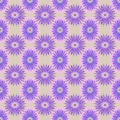 DiaNoche Designs Artist   Pam Amos - Spikey Flower Pattern Purple