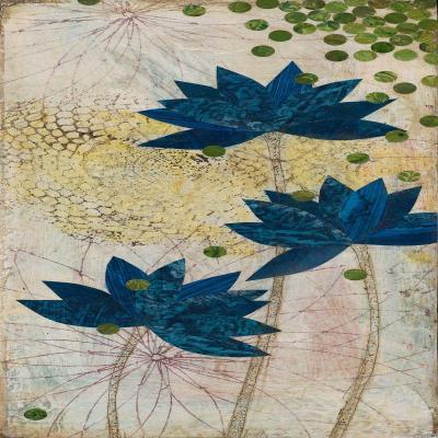 DiaNoche Designs Artist | Paper Mosaic Studio - Blue Lotus