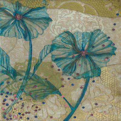 DiaNoche Designs Artist | Paper Mosaic Studio - Clear Blue Flowers