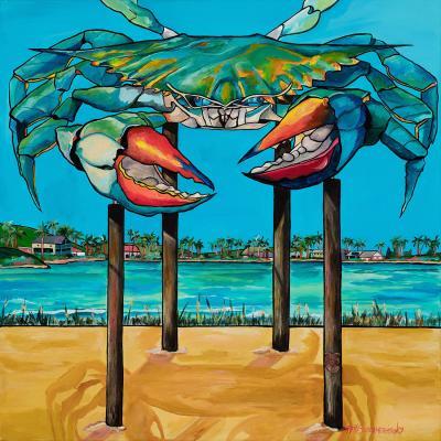 DiaNoche Designs Artist | Patti Schermerhorn - Blue Crab Rockprot