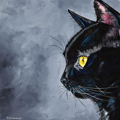 DiaNoche Designs Artist | Patti Schermerhorn - Boo Black Cat