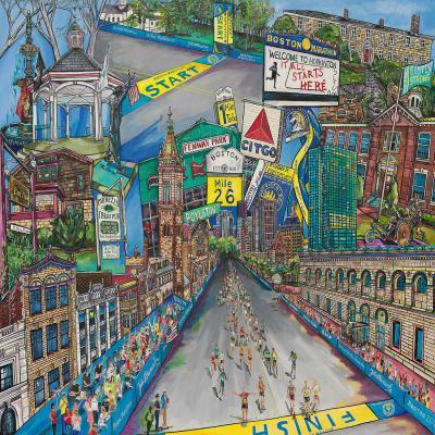 DiaNoche Designs Artist   Patti Schermerhorn - Boston Strong