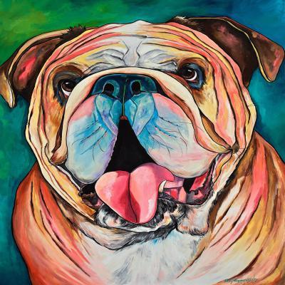 DiaNoche Designs Artist | Patti Schermerhorn - Bulldog XXOO