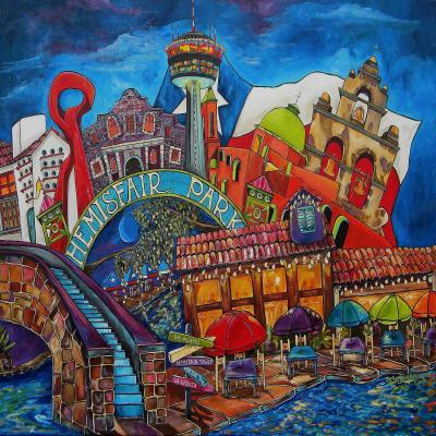 DiaNoche Designs Artist   Patti Schermerhorn - Downtown San Antonio Texas