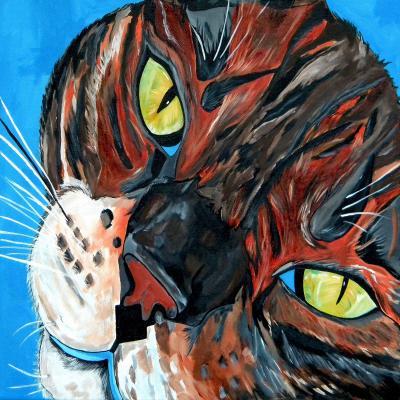 DiaNoche Designs Artist | Patti Schermerhorn - Eli Cat