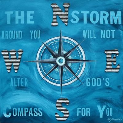 DiaNoche Designs Artist | Patti Schermerhorn - Gods Nautical Compass