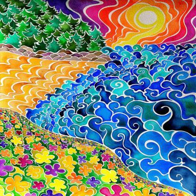 DiaNoche Designs Artist   Rachel Brown - Big Sur