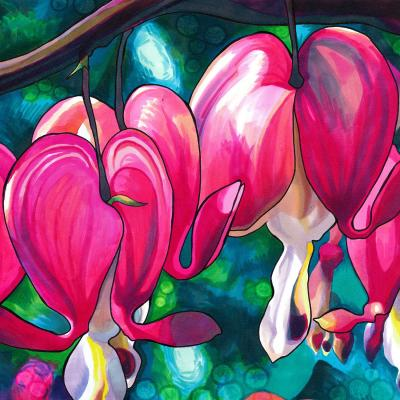 DiaNoche Designs Artist | Rachel Brown - Bleeding Hearts