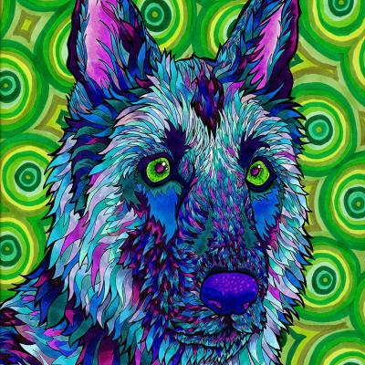 DiaNoche Designs Artist | Rachel Brown - German Shepherd