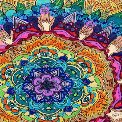 DiaNoche Designs Artist | Rachel Brown - Microcosm Mandala