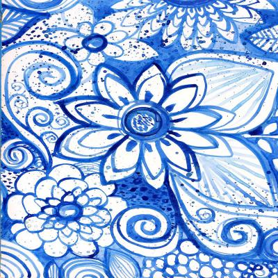 DiaNoche Designs Artist | Robin Mead - Blues Flower