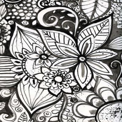 DiaNoche Designs Artist | Robin Mead - Flower Black White